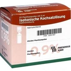 ISOTONISCHE Kochsalzlösung 0,9% Plastikampullen 20X5 ml