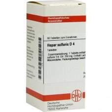 HEPAR SULFURIS D 4 Tabletten 80 St