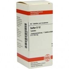 SULFUR D 12 Tabletten 80 St