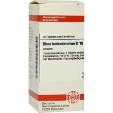 RHUS TOXICODENDRON D 10 Tabletten 80 St