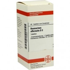 ROSMARINUS OFFICINALIS D 3 Tabletten 80 St