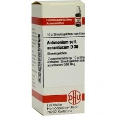 ANTIMONIUM SULFURATUM aurantiacum D 30 Globuli 10 g