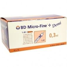 BD MICRO-FINE+ Insulinspr.0,3 ml U100 0,3x8 mm 100 St