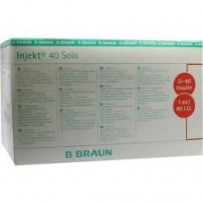 INJEKT Solo Insulinspr.1 ml U40 100X1 ml