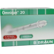 OMNICAN Insulinspr.0,5 ml U40 m.Kan.0,30x8 mm 100 St