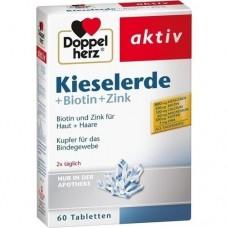 DOPPELHERZ Kieselerde+Biotin Tabletten 60 St