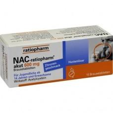 NAC ratiopharm akut 600 mg Hustenlöser Brausetabl. 10 St