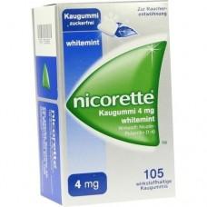 NICORETTE Kaugummi 4 mg whitemint 105 St