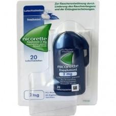NICORETTE freshmint 2 mg Lutschtabletten gepresst 20 St