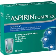 ASPIRIN COMPLEX Btl.m.Gran.z.Herst.e.Susp.z.Einn. 10 St