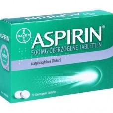 ASPIRIN 500 mg überzogene Tabletten 20 St