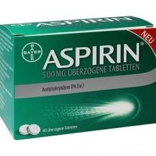 ASPIRIN 500 mg überzogene Tabletten 40 St